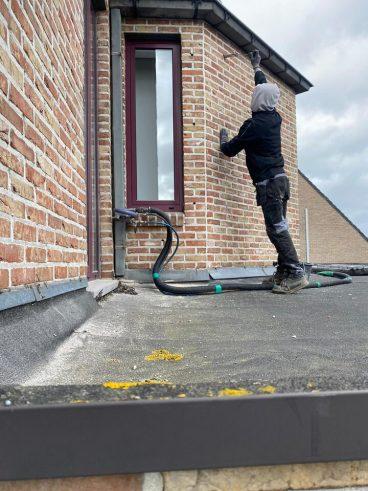 Realisatie 104m² EPS spouwmuurislatie te Ruiselede