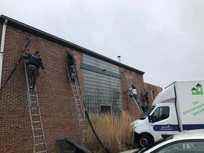 Realisatie 260 m² spouwmuurisolatie te Harelbeke