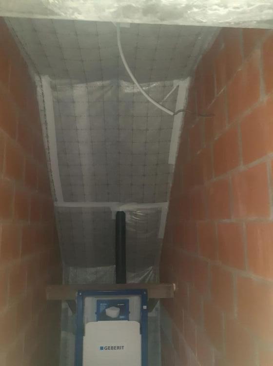 Realisatie 220 m² dakisolatie - glaswol met dampscherm te Deinze