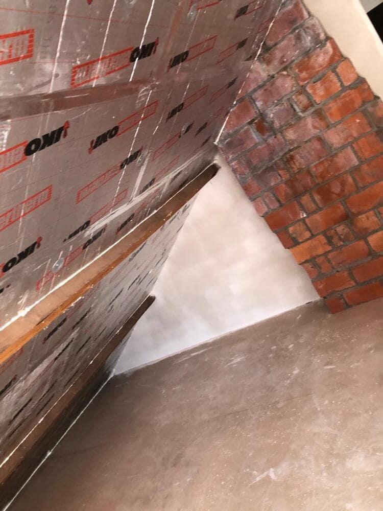 Realisatie 85m² dakisolatie - 10 cm pir isolatie te Torhout