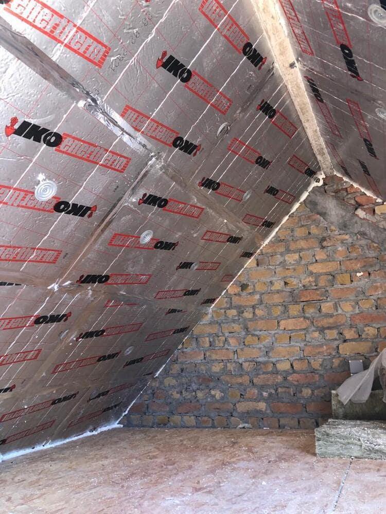 Hier heeft Nu-Isoleren.be een project van 60m² dakisolatie - 6 cm glaswol + 10cm pir gerealiseerd voor een bestaande woning te Knokke.