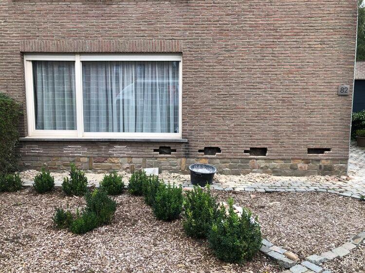 Spouwmuur reinigen spouwvervuiling verwijderen te Bonheiden