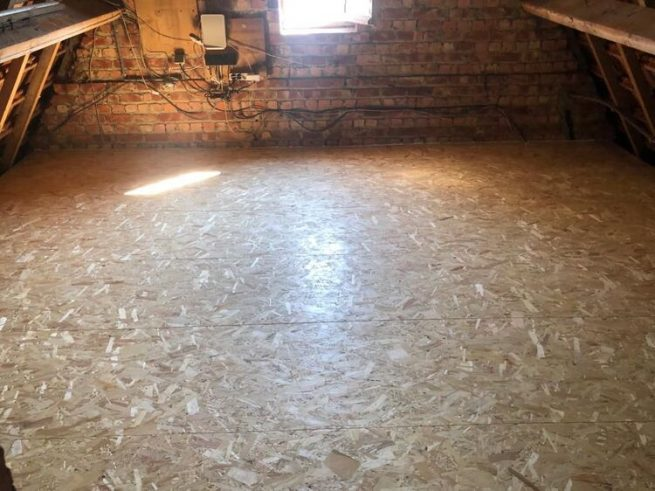 Realisatie 42m zoldervloerisolatie - 10 cm pir isolatieplaten te Leuven