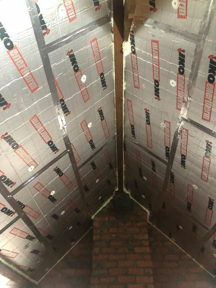 Realisatie 75m dakisolatie - 10 cm pir isolatieplaten te Brugge